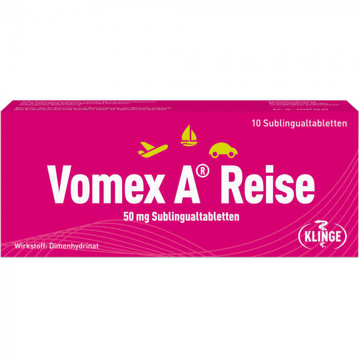 VOMEX A Reise 50 mg Sublingualtabletten 10 St